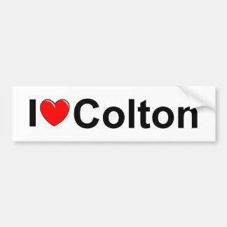 I Love (Heart) Colton Bumper Sticker