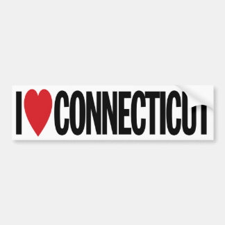 "I Love Heart Connecticut 11"" 28cm Vinyl Decal Bumper Sticker"
