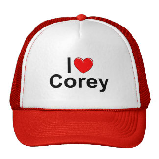 I Love (Heart) Corey Trucker Hats