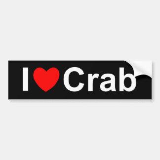 I Love (Heart) Crab Bumper Sticker