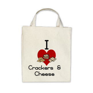 I love-heart crackers Cheese Bags
