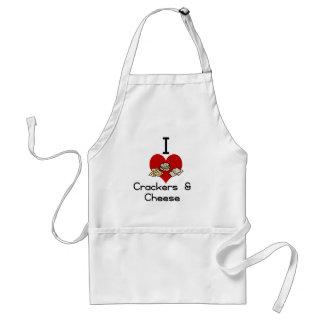 I love-heart crackers & Cheese Standard Apron