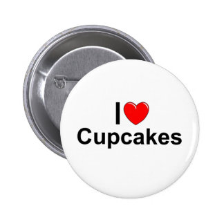 I Love (Heart) Cupcakes Pinback Buttons