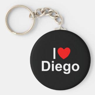 I Love (Heart) Diego Key Ring