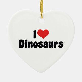 I Love Heart Dinosaurs - Dinosaur Fossil Hunter Christmas Ornament