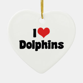 I Love Heart Dolphins - Dolphin Lover Christmas Ornament