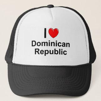 I Love Heart Dominican Republic Trucker Hat