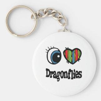 I Love (Heart) Dragonflies Key Chain
