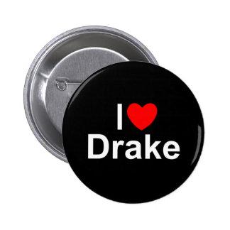 I Love (Heart) Drake 6 Cm Round Badge