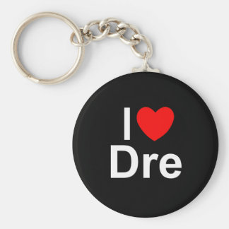I Love (Heart) Dre Basic Round Button Key Ring