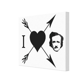 I Love (Heart) Edgar Allan Poe Canvas Prints