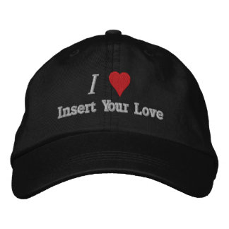 I Love (Heart) Embroidered Hat