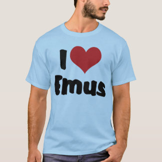 I Love Heart Emus - Emu & Ostrich Lover T-Shirt