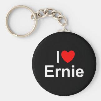 I Love (Heart) Ernie Basic Round Button Key Ring