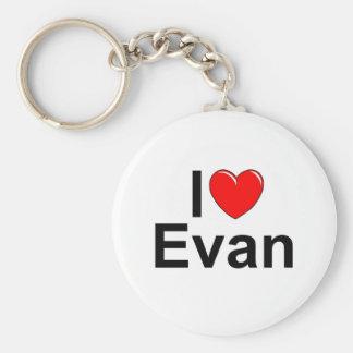 I Love (Heart) Evan Key Ring