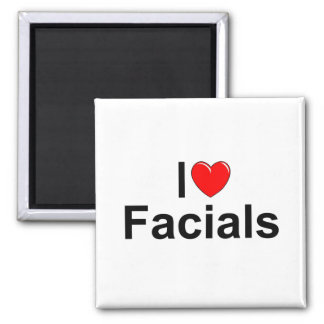 I Love (Heart) Facials Fridge Magnet