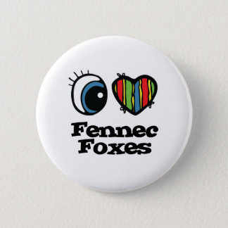 I Love (Heart) Fennec foxes 6 Cm Round Badge