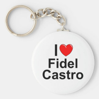 I Love (Heart) Fidel Castro Keychain