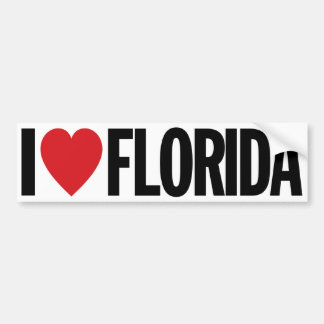 "I Love Heart Florida 11"" 28cm Vinyl Decal Bumper Sticker"
