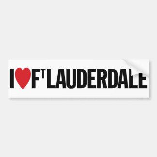 "I Love Heart Fort Lauderdale 11"" 28cm Vinyl Decal Bumper Sticker"