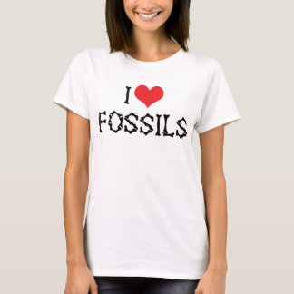 I Love Heart Fossils - Paleontology Fossil Hunter T-Shirt