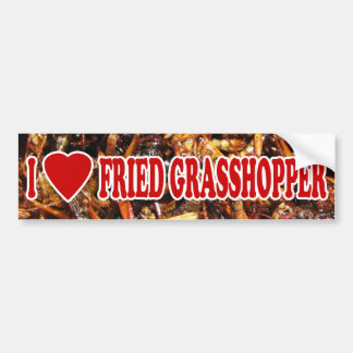 I Love (Heart) Fried Grasshopper Bumper Sticker