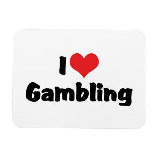 I Love Heart Gambling - Las Vegas Casino Lover Rectangular Photo Magnet