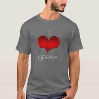 I Love (Heart) Geeks Dark Men's Tee