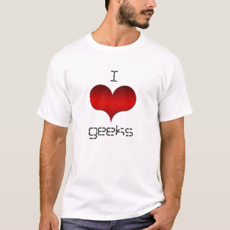 I Love (Heart) Geeks Light Men's Tee