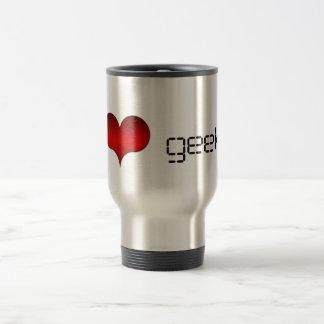 I Love (Heart) Geeks Mug