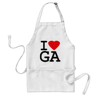 I Love Heart Georgia Standard Apron