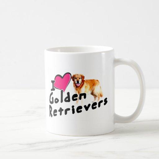 I love (heart) Golden Retrievers Mug