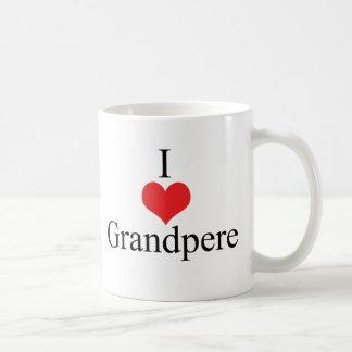 I Love Heart Grandpere Coffee Mugs