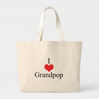 I Love Heart Grandpop Bags