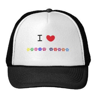 I love heart great danes dog hat, gift idea