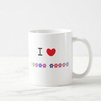 I love heart great danes dog mug, gift idea basic white mug