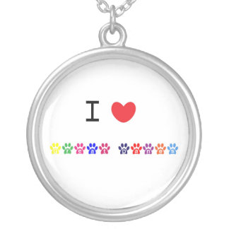 I love heart great danes dog pawprint necklace