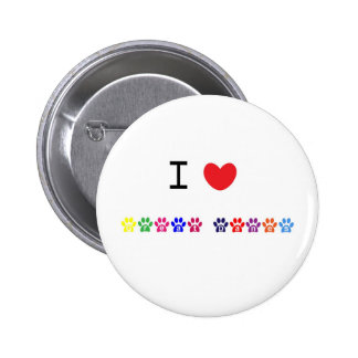I love heart great danes dog pin button gift