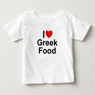 I Love (Heart) Greek Food Baby T-Shirt