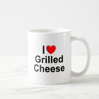 I Love Heart Grilled Cheese Coffee Mugs