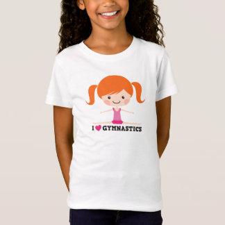 I love heart gymnastics cartoon girl side split T-Shirt