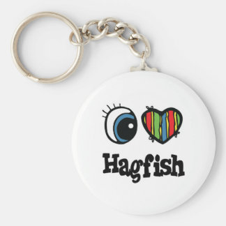 I Love (Heart) Hagfish Key Ring