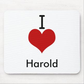 I Love (heart) Harold Mouse Pad