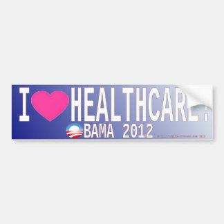 I Love (Heart) Healthcare! Bumper Sticker