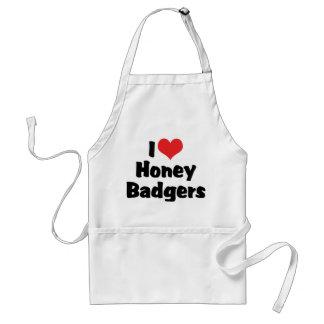 I Love Heart Honey Badgers Standard Apron
