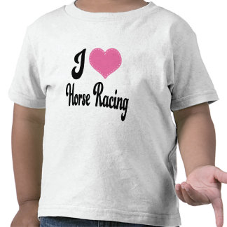 I Love (Heart) Horse Racing T Shirt