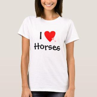 I Love (Heart) Horses T-Shirt