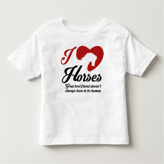 I Love/Heart Horses Toddler T-Shirt