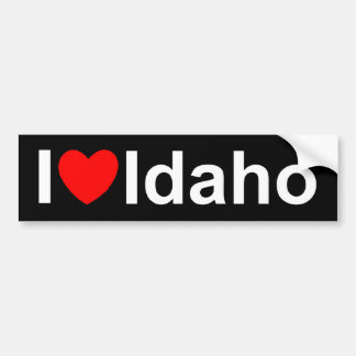 I Love (Heart) Idaho Bumper Sticker