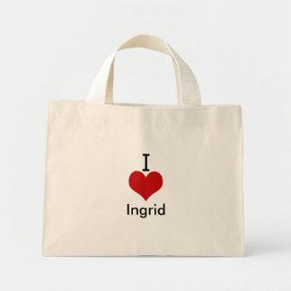 I Love (heart) Ingrid Canvas Bag